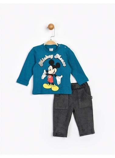 Mickey Mouse  Bebek Takım 16207 Petrol